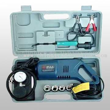 Auto Impact Wrench With Air Compressor