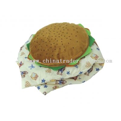 Hamburger Cushion w/ convertable blanket from China