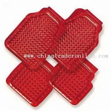 Red PVC Car Mats with 43 x 48cm Rear Size