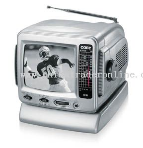 5  BLACK & WHITE TV with AM/FM TUNER