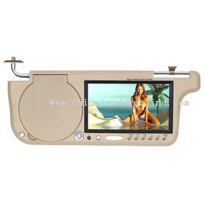 7 TFT LCD SUNVISOR WITH DVD PLAYER;Panel:TFT-LCD