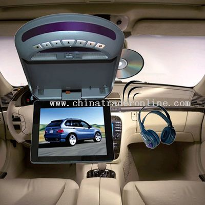8 inches roof-mounted TFT-LCD monitor with DVD player and TV