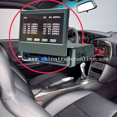 For Car DVD 7-inch full new color TFT LCD (wide angle 16:9 display)