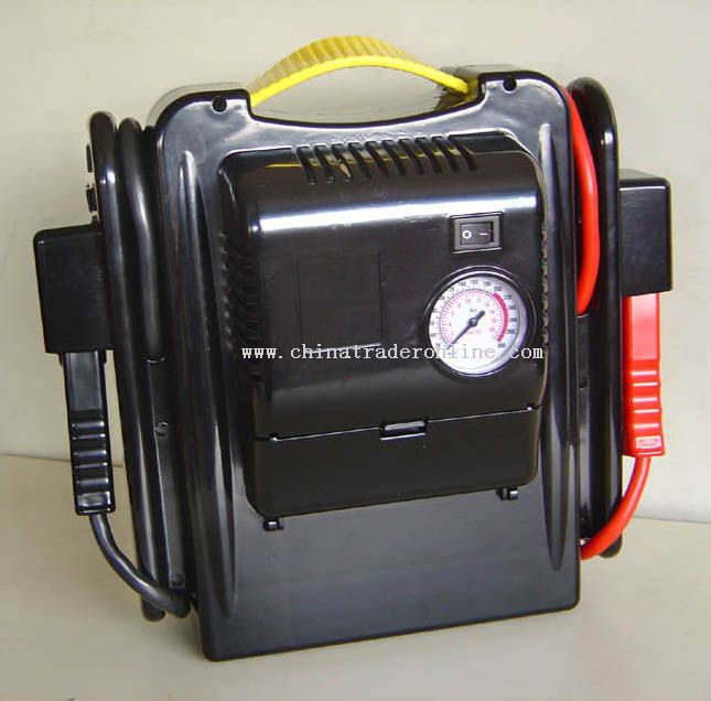 JUMP START WITH AIR COMPRESSOR
