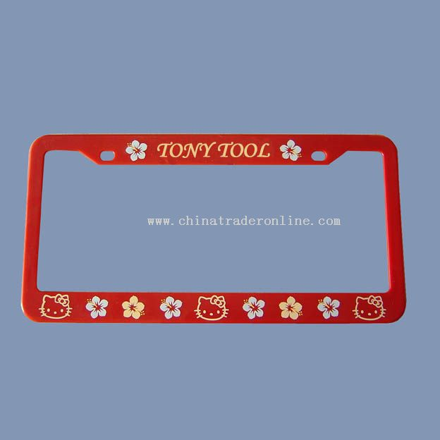 CAR PLASTIC LICENSE PLATE FRAME