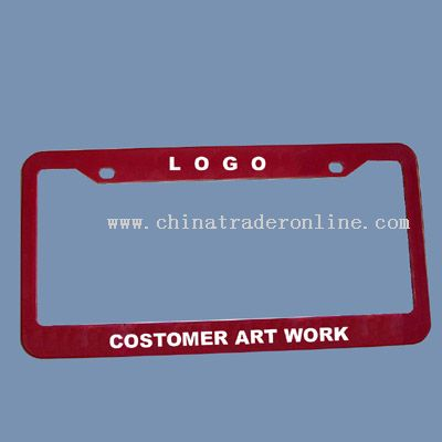 PLASTIC LICENSE PLATE FRAME