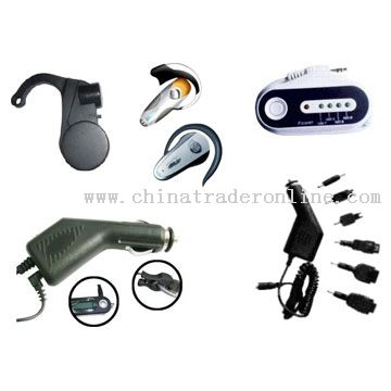 Mobile Charger, FM Transmitter, Bluetooth Earphones