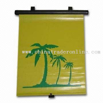 PVC Roller Auto Sunshade with Logo Imprint
