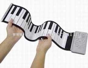 Cordless rollup piano