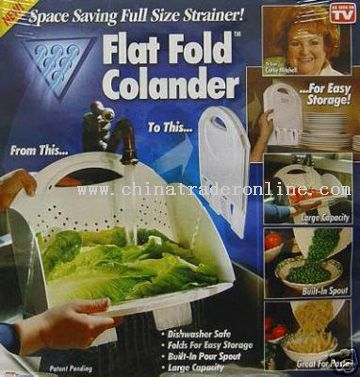 Flat Fold Colander from China