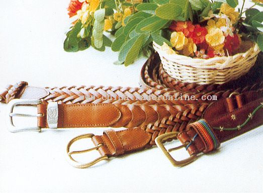 Knitting Genuine Leather Belt