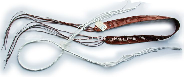 Knitting Genuine Leather Belt from China