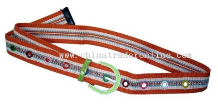 Three color canvas fashion belt