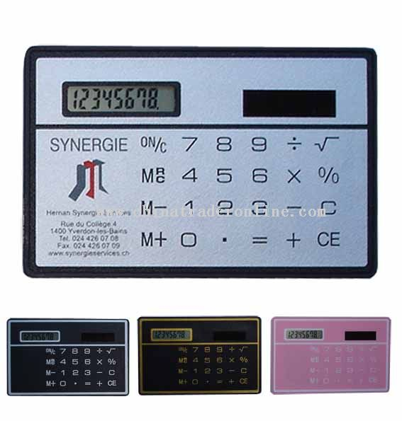 Slim Card size solar calculator