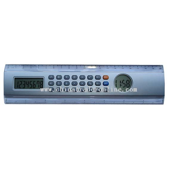ruler calculator with digital clock