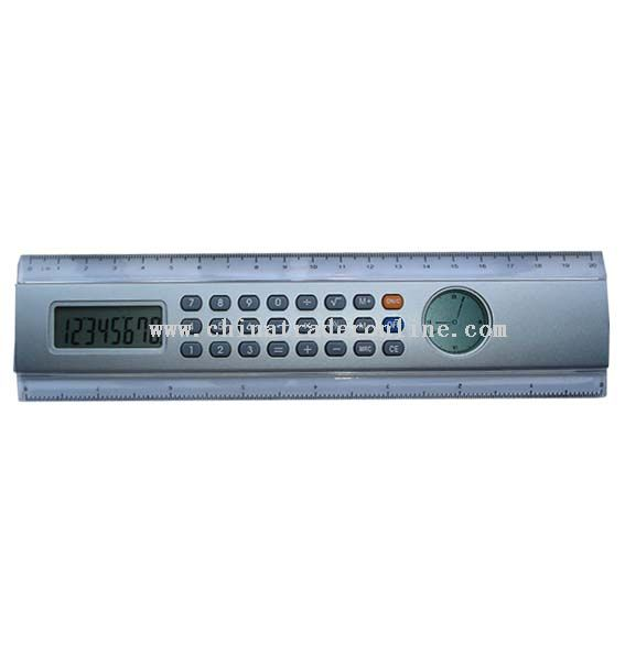 ruler calculator with hand clock from China