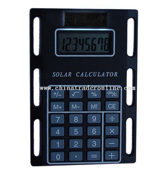slim calculator with solar