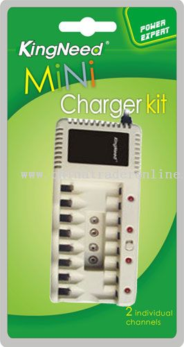 four charging channels with 2-2 series connection timer Charger
