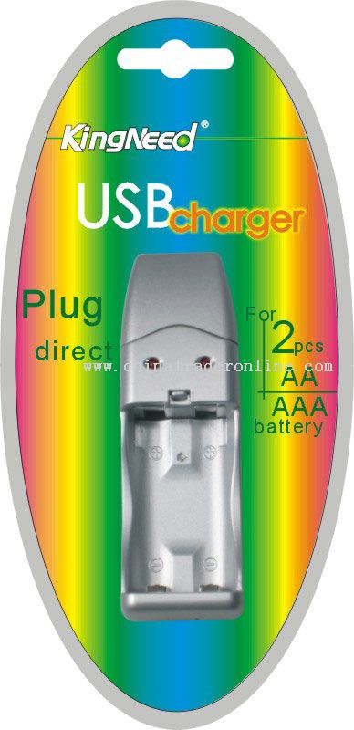 For 2pcs AA/AAA batteries USB Charger