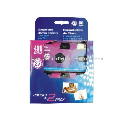 2PACK BULT-IN FLASH SINGLE USE CAMERA