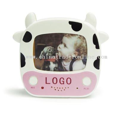 Cow photo frame & recorder from China