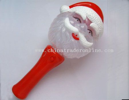 led magic spinning santa claus