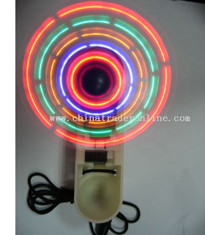 Foldable LED Mini Fan with Lanyard