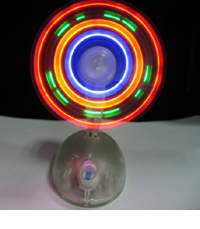 Mouse Shape LED Mini Fan with Lanyard