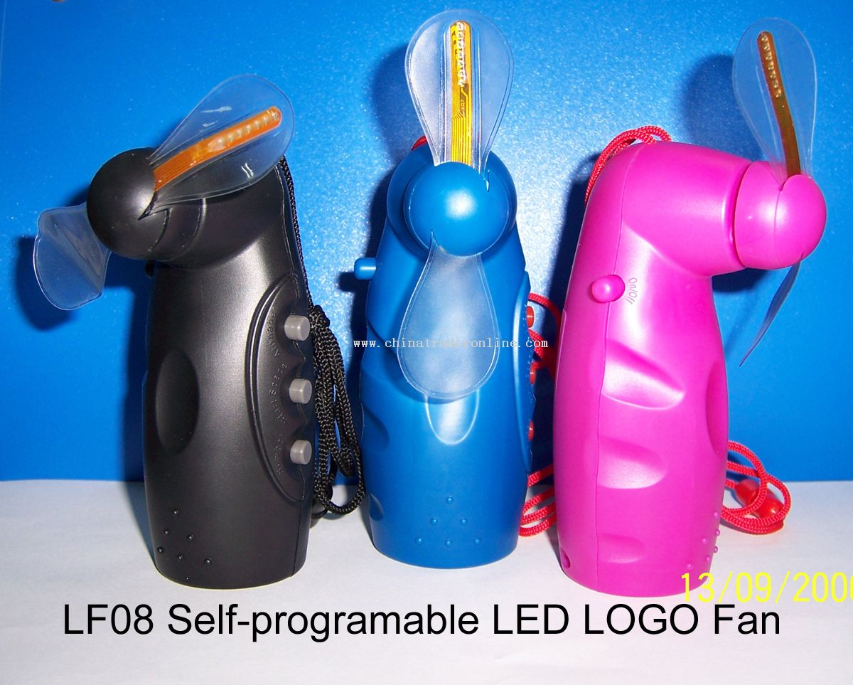 Self-programable LED Logo Fan