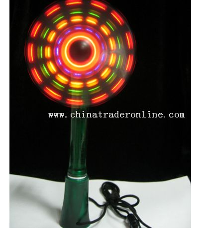 Stand-Up LED Mini Fan with Pen and Lanyard