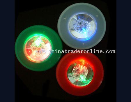 round-shape flashing coaster