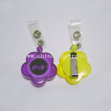 flower shape retractable badge holder from China