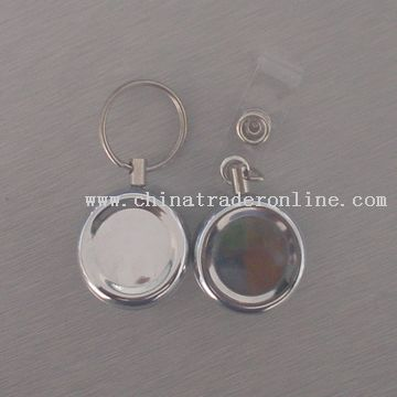 round shape etractable badge holder from China