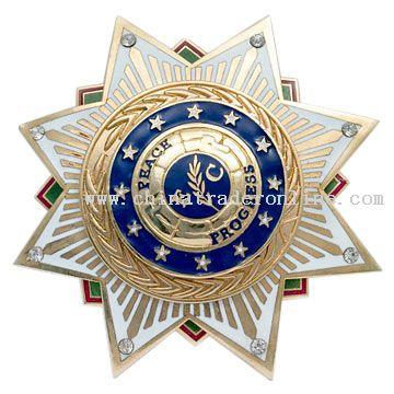 Cloisonne Badge