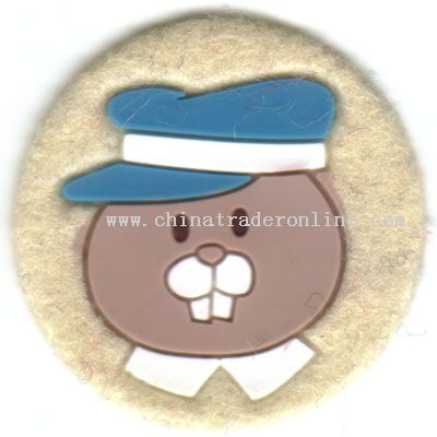 High frequency emboss badge