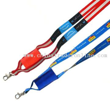 Heat-Transferred Lanyards With Mobile Phone Holder