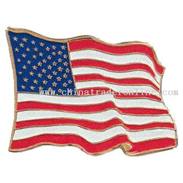 High Quality Flag-shape Pins in Various Designs from China