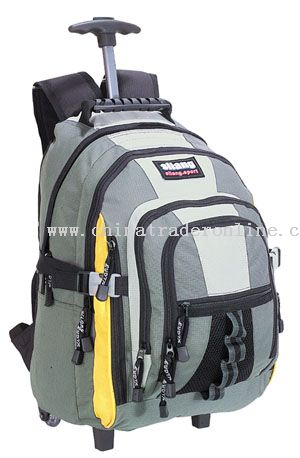 420D 2mm checked/ulelene WHEELED BACKPACK