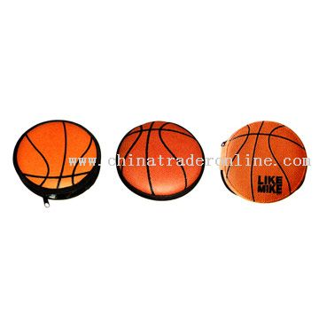PVC Leather Basketball Shaped CD Holder from China