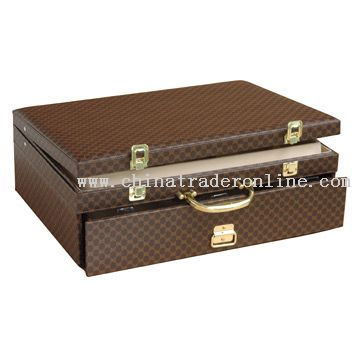 84pcs Lantern Line PVC Briefcase with Drawer from China