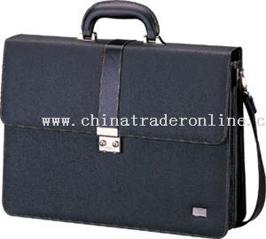 Leather look material combined briefcase with secret lock
