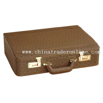 PVC Double-Inclined Surface Briefcase with Fabric from China