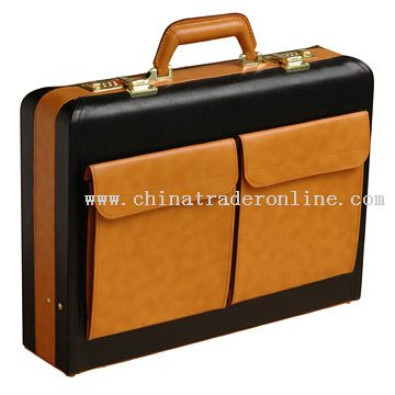 Yellow PVC Briefcase with Bag from China