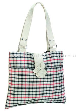 Polesster+PVC leather LADY BAG
