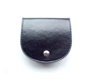 Leather or synthetic leather material coin purse.