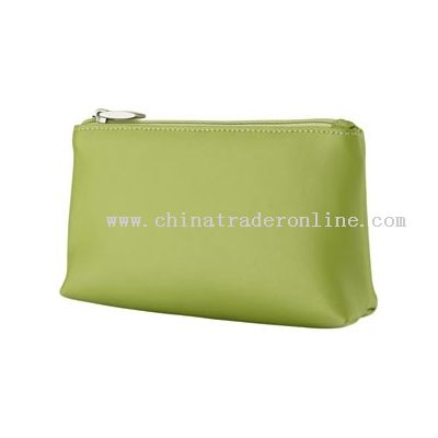 Make up bag with PU/PVC material