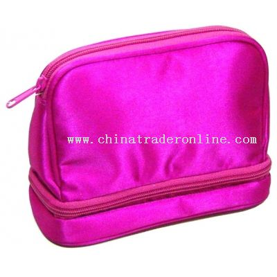 SATIN PVC FOR BODY cosmetic bag