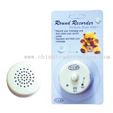 Mini Recorder for Dolls and Plush Objects
