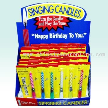 Music Birthday Candles From China