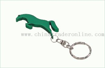 Animal Shape Bottle Opener Keychain from China